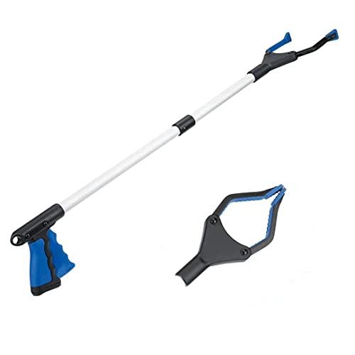 Reacher Grabber Tool, 32' Foldable Grabber Reacher, Rotating Jaw - Mobility Aid Reaching Assist Tool, Trash Picker Upper Grabber, Long Arm Extender for Elderly (Blue)