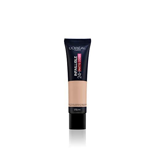 L'Oréal Paris Infaillible 24H Matte Cover 175 Sable/Sand, langanhaltendes Flüssig-Make-up, hohe Deckkraft, wasser- und wischfest