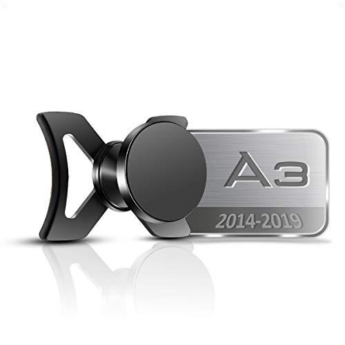 AYADA Soporte Móvil para Audi A3 8V, Soporte Telefono Phone Holder Nueva Versión 6 Imanes Estable Fácil de Instalar Manos Libres S3 2013 2014 2015 2016 2017 2018 2019 Sportback Accesorios