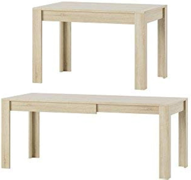 MPS praktisch Tisch SYRIUS 120-190 x 80 x 76 cm (L x B x H) im Eiche Sonoma für Esszimmer, 4-8 Personen Esstisch mit ausziehbarer Tischplatte auf 190 cm, ausziehbar Küchentisch, Esszimmertisch