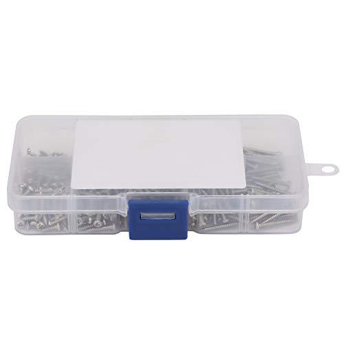 Gojiny 400 Piezas M2. Kit Surtido de 2 Tornillos Autorroscantes para Chapa de Acero Inoxidable con Sujetadores de Caja de Almacenamiento Piezas de Hardware Industrial