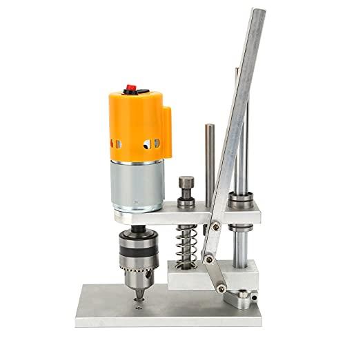 Taladro de sobremesa, máquina de perforación doméstica de velocidad variable, Mini herramienta de reparación de taladro eléctrico de escritorio, AC110‑240V(B12 (1,5-10 mm))