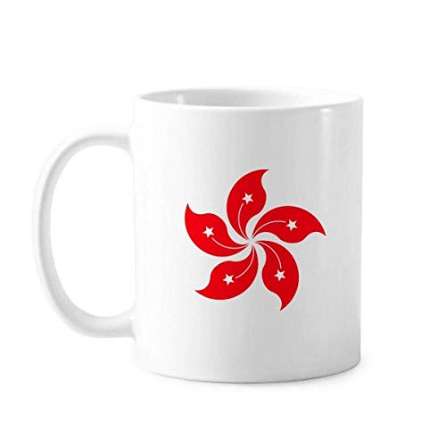 Tasse mit chinesischer Flagge von Hongkong, Keramik, Kaffee, Porzellan