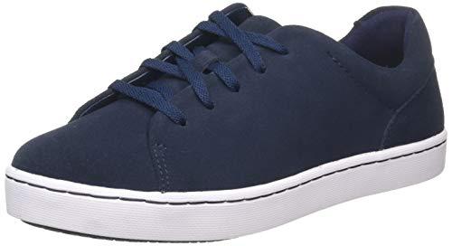 Clarks Damen Pawley Springs Sneaker Niedrig, Blau (Navy Suede Navy Suede), 37 EU