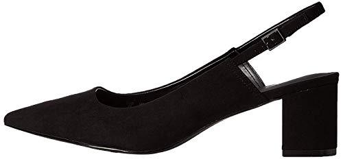 find. Point Block Heel Slingback Scarpe con Cinturino alla Caviglia, Nero Black), 37 EU