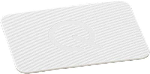greenteQ Premium Unterlegplatten - Abstandshalter, Plättchen aus Kunststoff | hohe Tragkraft | 25 Stück 60x40x1,5mm Weiß