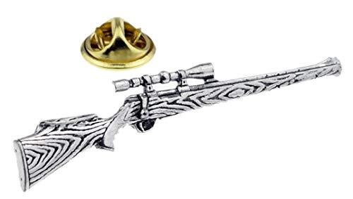 Gemelolandia | Pin de Solapa Fusil de Caza Plateado | Pines Originales...