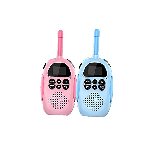 Nye Walkie-Talkie para niños, Transmisión de Sonido de 3km Walkie-Talkie, Carga Directa portátil USB, con cordón Anti-perdido, Adecuado para al Aire Libre, Azul y Rosa