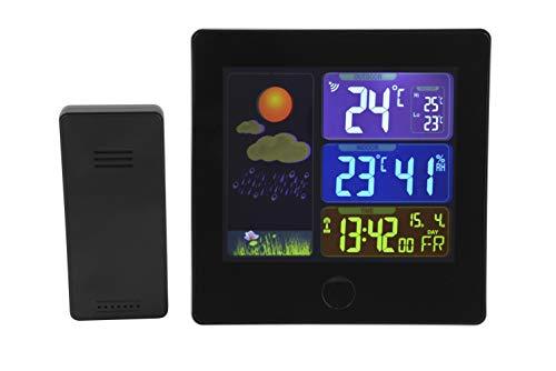 Digitaal draadloos weerstation voor binnen en buiten, met thermometer, hygrometer en praktisch lcd-kleurendisplay