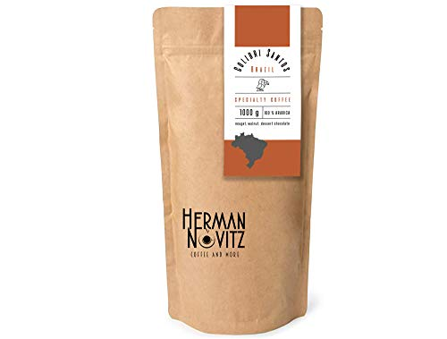 HERMAN NOVITZ Colibri Santos Speciality Coffee   Premium Coffee Beans   Brazilian Coffee with Nougat, Walnut and Chocolate Aftertaste   Arabica Coffee Pack   Fresh Roasted Coffee Beans (1)