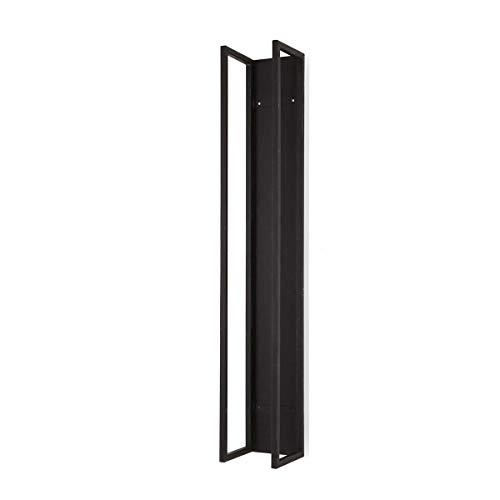 Pureday Kaminholzregal zur Wandmontage Eisen schwarz H160 x B25 x T25 cm