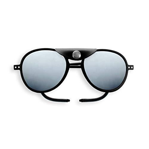 Izipizi Paris   LetmeSee #SUN GLACIER PLUS Black   Sonnenbrille zum Skifahren und fürs Gebirge - 100% UV-Schutz der Kategorie 4   Universelles Unisex-Modell - Piloten Form - Ohne Korrektur