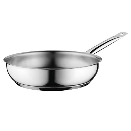 BergHOFF Comfort Pfanne, Bratpfanne, Küchenpfanne, Stielpfanne, Edelstahl, Silber, 24 cm, 1100234A