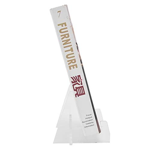Estante, suporte de livro Acrílico forte suporte com suporte para cozinha doméstica para livraria de escritório
