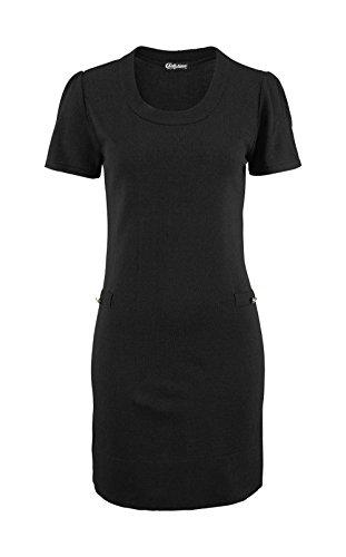 Chillytime Damen-Kleid Strickkleid Schwarz Größe 40
