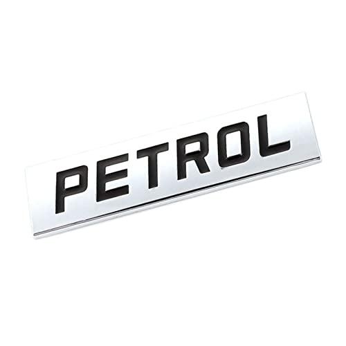 Adesivo creativo in metallo 3D per auto in metallo cromato BENZINA con stemma distintivo