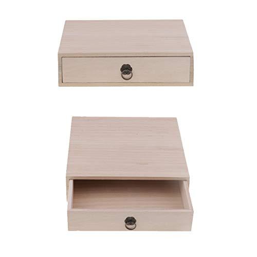 2X Holzschublade Fall Holz Tee Box Für Handwerk, Schmuck Organizer, Home Storage
