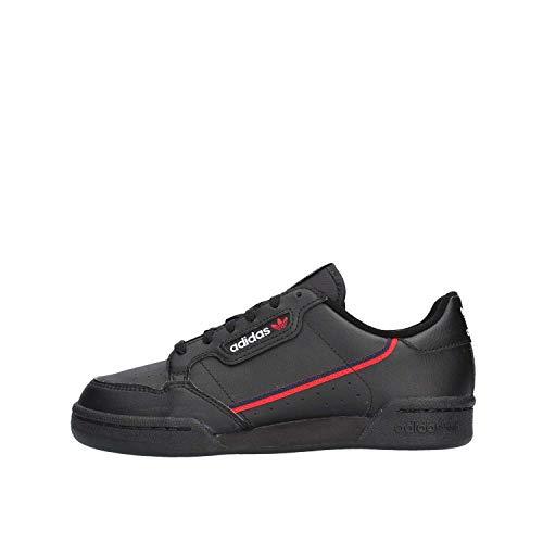 adidas Continental 80 J, Scarpe da ginnastica Unisex-Adulto, Core Black/Scarlet/Collegiate Navy, 38 EU