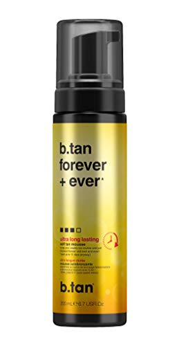 b.tan Self Tan Mousse - Forever & Ever - Ultra Long Lasting Self Tanner, Lasts Up to 11 Days, 6.7 Fl oz