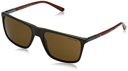 Ralph Lauren 0Rl8161 Gafas de sol, Olive Vintage Effect, 58 para Hombre