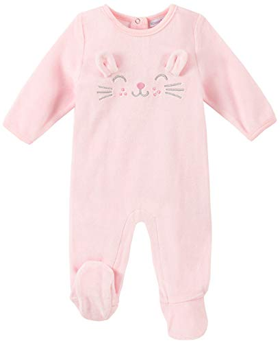 absorba Baby Girls Footie-Velour, Frozen Petal, 0-3 Months