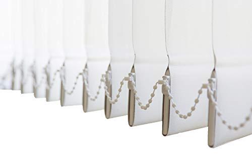 Lamellenvorhang, Vertikal, in 4 Farben, Lamellen 127 mm, Schiebevorhang, Jalousie, Vertikaljalousie, NEU (Weiss, 200 x 250 cm BxH)