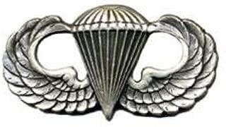 Army Basic Combat Parachutist Badge 1st Award Oxidized Finish - Regulation