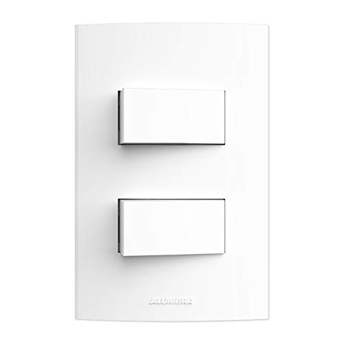 Conjunto 2 Interruptores Simples, Alumbra, Inova Pro 85039, Branco