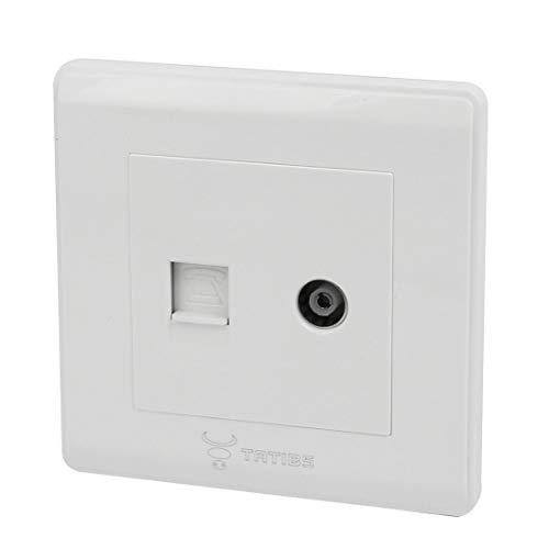 Aexit TV - Antennenbuchse RJ 12 6P6C - Telefonsteckdose - Anschlussblende Weiß (df093fbee81fea5b2277196f4036f3f0)