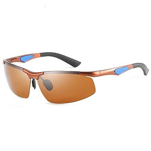 DKee Gafas de Sol Gafas De Sol Sin Bordes for Hombres Ultra Ligeras Cómodos Deportes Al Aire Libre Viajes Conducción Gafas De Sol for Montar En La Playa Protección UV400 Junto Al Mar (Color : Brown)
