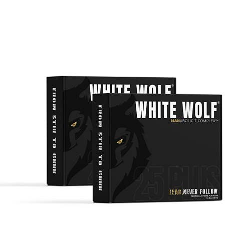 Dynamic Nutrition Academy – White Wolf Virility Manabolic T-Complex | Supplement and Multivitamin for Men 25+ | Tropical Storm Flavour | 28 x 10g Sachets - 28 Day Supply