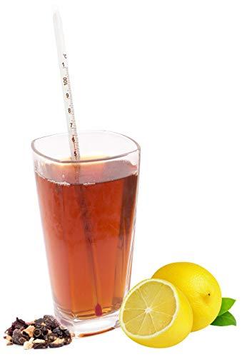 Lantelme Termometro da tè in vetro da 24 cm per teiera in vetro per tè verde alla frutta e tisane altrettanto adatto 2883