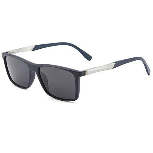 YUN Gafas de Sol para Hombres Gafas de Sol Polarizadas, UV400 Protección Conductor Actividades al Aire Libre Conducción Pesca Correr Senderismo Deportes (Color : Blue White)