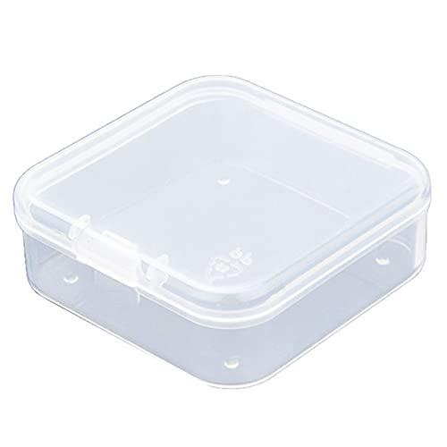 Btlesa Caja de almacenamiento transparente para joyas, organizador con cierre a presión, para joyas, tapones para los oídos, contenedor de perlas multifuncional, 10 unidades