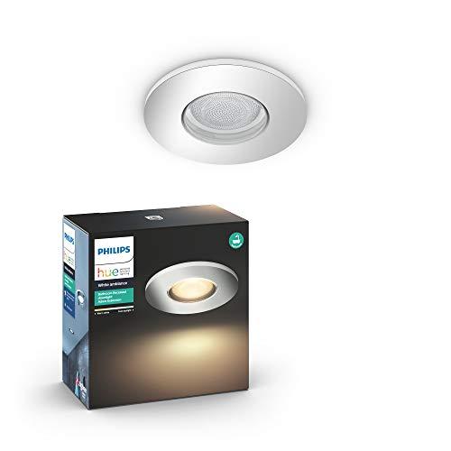 Philips Hue White Ambiance Inbouwspot, uitbreiding, chroom, compatibel met Adore, Bluetooth, werkt met Alexa, afstandsbediening niet inbegrepen