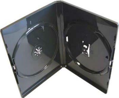 Amaray - 10 x Estuches Dobles Negros de Repuesto para DVDs