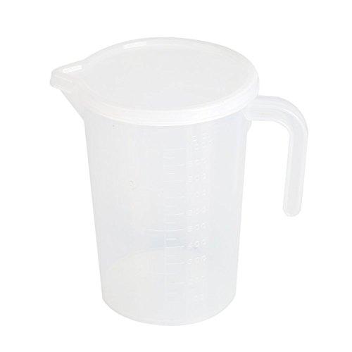 Fdit Kunststoff Messbecher 500 ml/1000 ml Durchsichtigen mit Deckel Küche Kochen Backen(1000ML)