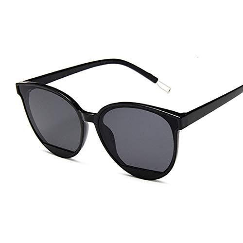 QAZW Gafas De Sol Polarizadas Clásicas Ovaladas Rojas Para Mujer, Gafas De Sol Para Mujer, De Plástico Vintage, De Marca, De Diseñador, Con Forma De Ojo De Gato, Gafas De Sol Uv400 Blackgray