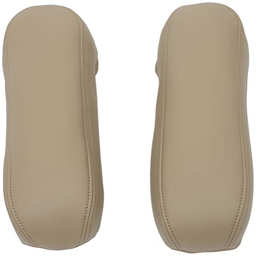 TUPARTS Synthetic Beige Leather Seat Armrest Cover Compatible with Ford F250 F350 Excursion Lariat 1999 2000 2001 2002 2003 2004 2005 2006 2007 (2pcs Covers Only) -  163709-5232-1715056521