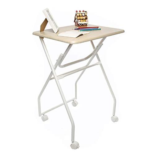 GJ Klapptisch, Laptop-Schreibtisch Mit Rollen, Kleinen Esstisch, Portable Office Schreibtisch, Schreibtischstudie, Ahorn, for Outdoor-Stall Und Innen Tabelle