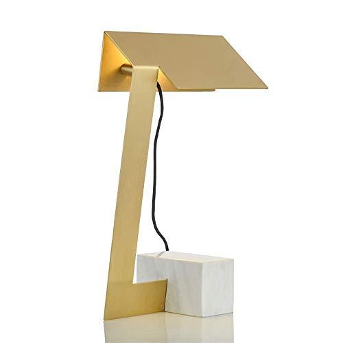 N/Z Equipo para el hogar Personalidad Creativa Lámpara de Escritorio de Hierro de Lujo Poste de diseño Moderno Estudio Sala de Estar Dormitorio Lámpara de Noche 25 * 42 cm