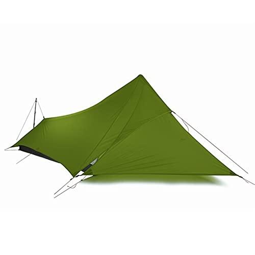 Gcsheng 1 Persona al Aire Libre Ultraligero Camping Tienda 3 Temporada Lluvia Mosca Carpa Lona (Color : Green)