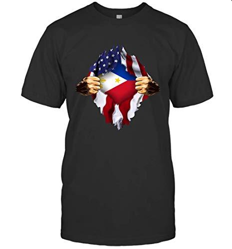 Saladoma Filipino Blood Inside Me Philippines Flag Gift Shirt Unisex T-Shirt Sweatshirt Hoodie Black