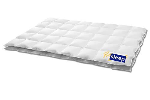 HANSKRUCHEN PRO SLEEP | 4 Jahreszeiten Daunendecke 155x220 cm | 90% Daunen / 10% Federn – 1.000 gr.