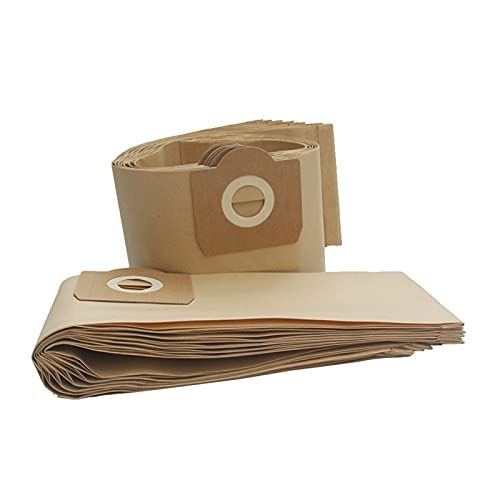 DA QING 12 bolsas de polvo para aspiradora compatibles con KARCHER WD3 WD3300 WD3.500P A2200-A2299 A2500-A2599 A2600-A2699 SE4002 K2201 F K2901 Home (Color: amarillento )
