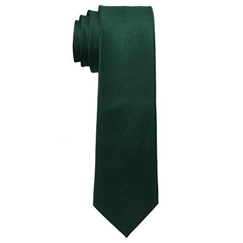 MASADA Corbata para Hombre elaborada a mano y con gran esmero 6 cm de ancho - Verde oscuro