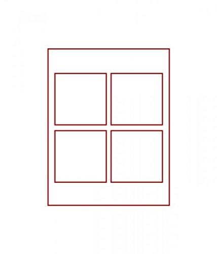 LINDNER Das Original d-Box Standard à 4 alvéoles carrés 100 x 100 mm pour Monnaies/médailles ou Autres Objets de Collection