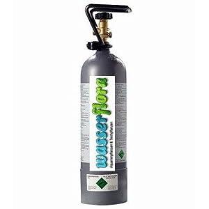 WFW-wasserflora-2-kg-CO2-Depot-Flasche-gefllte-Mehrweg-Kohlensure-DruckgasflascheStahlflasche-extrem-kompakte-Bauform-Flaschendurchmesser-ca-12-cm-Hhe-nur-ca-45-cm