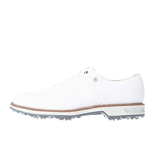 [フットジョイ] ゴルフシューズ ドライジョイズ プレミア パッカード Lace メンズ ホワイト/ホワイト 24.5 cm 3E