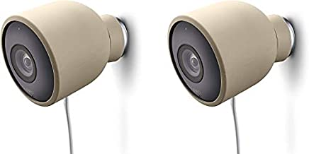 Colorful Silicone Skins Compatible with Nest Cam Outdoor Security Camera – Protect & Camouflage Your Nest Cam Outdoor with These UV Light- and Weather Resistant Silicone Skins (2 Pack, Beige)